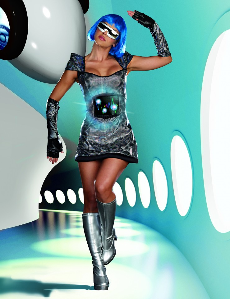 Womens sci fi costume planet fab by dreamgirl for Outer space clothing